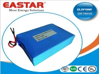 Li-ion polymer battery pack 22.2V 18Ah